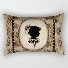 Miss Shadow - Vanilla Rectangular Pillow