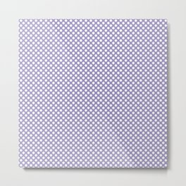 Violet Tulip and White Polka Dots Metal Print