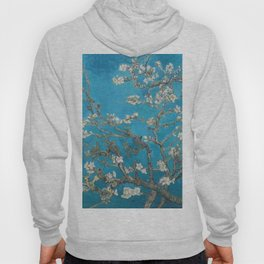 Vincent van Gogh Blossoming Almond Tree (Almond Blossoms) Medium Blue Hoody
