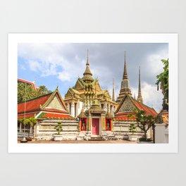 Stupas in Wat Pho, Bangkok, Thailand Art Print