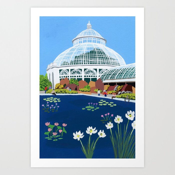 Botanical Gardens New York Art Print