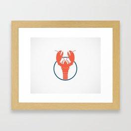Lobster Lake Framed Art Print