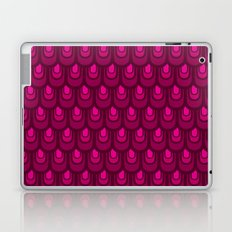 Pink vintage feather pattern Laptop & iPad Skin