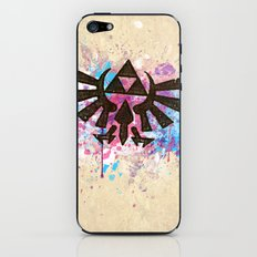 Splash Triforce Emblem iPhone & iPod Skin