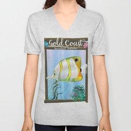 Gold Coast Australia travel poster Unisex V-Neck