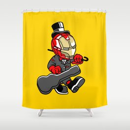 Iron Gentleman - Illu from Dan Roach Shower Curtain