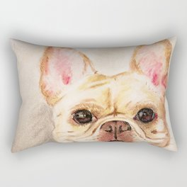 "Pastel Drawing ""Happy Camper"" Rectangular Pillow"