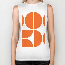 Mid Century Modern Orange Square Biker Tank