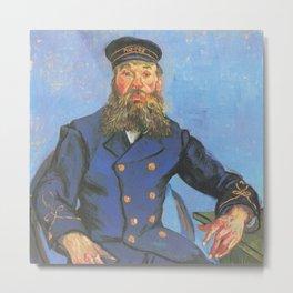 Vincent van Gogh - Portrait of Joseph Roulin sitting at a table (1888) Metal Print