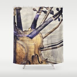 Classic Violins Shower Curtain