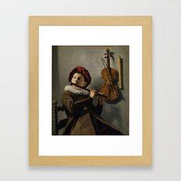 "Judith Leyster ""Boy playing the Flute"" Framed Art Print"