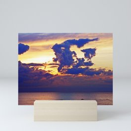 Abstract Clouds over the Sea - The Running Man Mini Art Print
