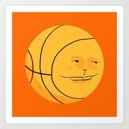 Happy Bouncing Basketball Art Print