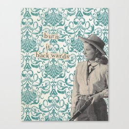 Cowgirl, collage Canvas Print