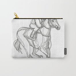 Horse Racing Jockey Doodle Art Carry-All Pouch