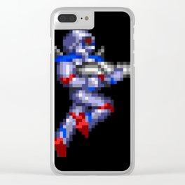 Turrican Pixel Art Clear iPhone Case