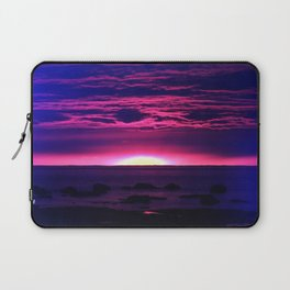 Incredible Sunset by the Sea Laptop Sleeve
