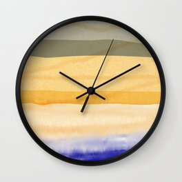 Brush Strokes Art, Watercolor, Color Theory Home Accessories Wall Clock