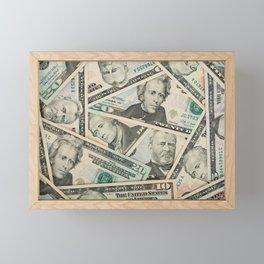 US Dollars Background Money Millionaire Framed Mini Art Print
