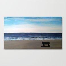 wagon on the beach Canvas Print