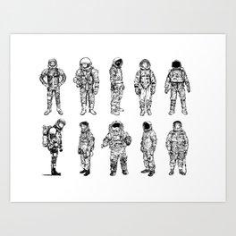 Flight Suits Art Print