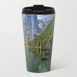 Lake Braies in Italy Travel Mug