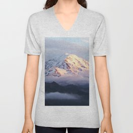 Marvelous Mount Rainier 2 Unisex V-Neck