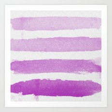 Purple Ombre  Art Print