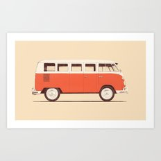 Red Van Art Print