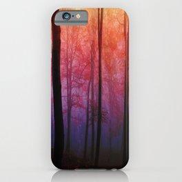 Whispering Woods, Colorful Landscape Art iPhone Case
