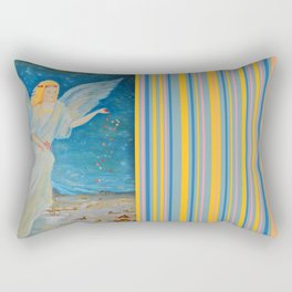 Bless me | Guardian Angels are Here | Angel of Abundance | Love Rectangular Pillow