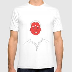 Red Face White MEDIUM Mens Fitted Tee