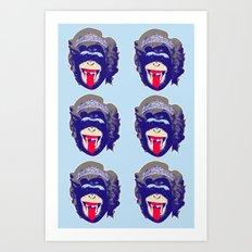 6 Queen Kongs 3 Art Print
