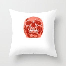 Skull Skull Horror Throw Pillow