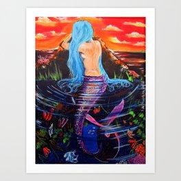 Wondering Mermaid Art Print