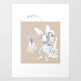 Weird & Wonderful: Harehopper Art Print