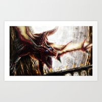 The Dragon Race Art Print
