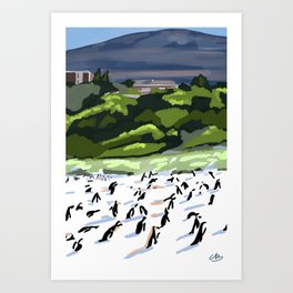 Penguin Colony Art Print