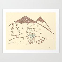 Polar Bear Takes a Walk Art Print