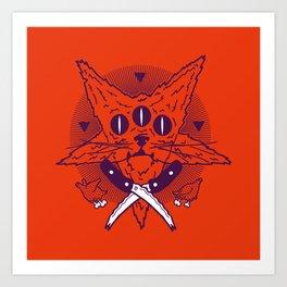 Hell Kitten Art Print
