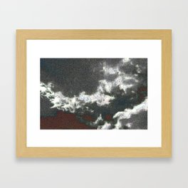 jpeg cloud ghosts Framed Art Print