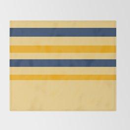 Yellow  blue  stripes  horizontal Throw Blanket