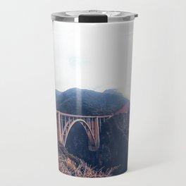 beautiful landscape at Bixby bridge, Big Sur, California, USA Travel Mug