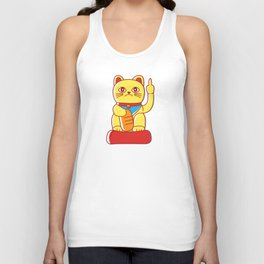 Middle Finger Mis-Fortune Cat Unisex Tank Top