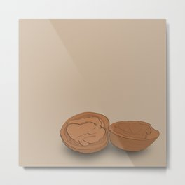 Crack the nut Metal Print