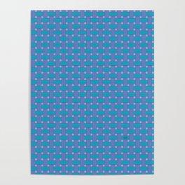 Blue Cross Hatch Weave Poster