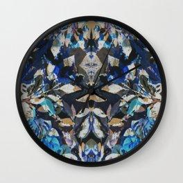 Rorschach Flowers 9 Wall Clock