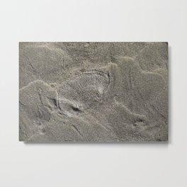 Imprint in the sand Metal Print