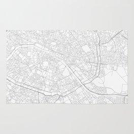 Paris, France Minimalist Map Rug