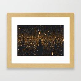 Golden Lights (Color) Framed Art Print
